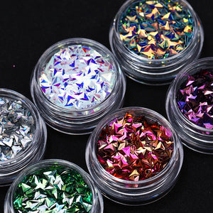 6 Boxes Chameleon AB Color Nail Sequins Set Triangle Rhombus Colorful Flakes Glitter Paillette Manicures-GoAmiroo Store