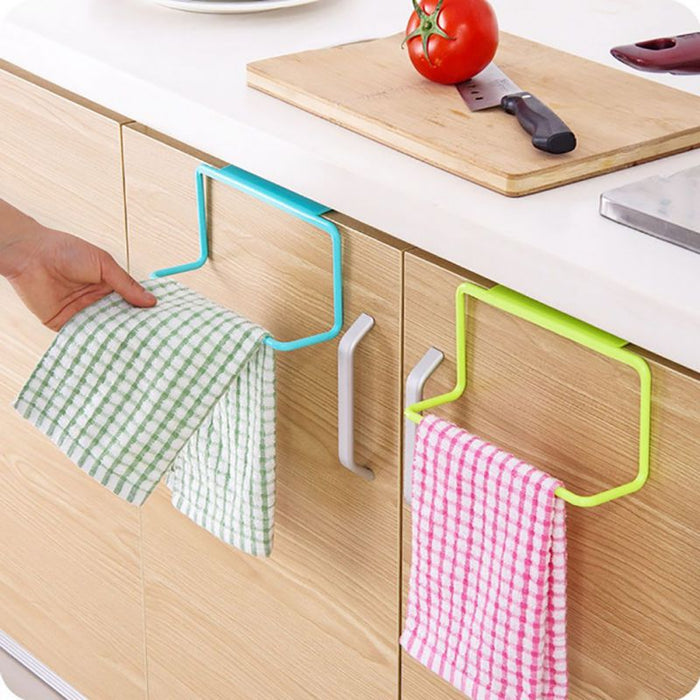 1Pc Over Door Tea Towel Holder Rack Rail Cupboard Hanger Bar Hook