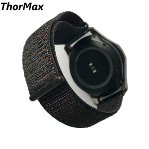 For Gear S3 Watch Band 22Mm Nylon Sport Loop Replacement Strap For Samsung Gear S3 Frontier/classic Magnetic Suction Thormax - Goamiroo