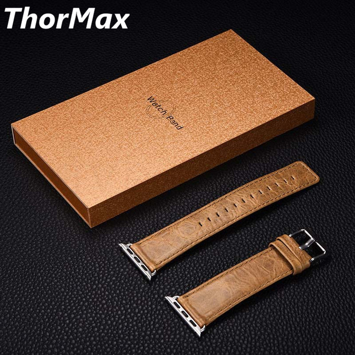 THORMAX Leather Watchband for Apple Watch Band Series 3/2/1 Genuine Leather Bracelet 42 mm 38 mm Strap For iwatch Band