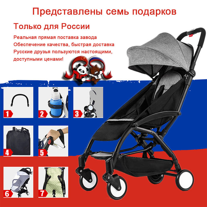 Lightweight Stroller Yoya Baby Carriage Can Sit Lie Folding Stroller Ultra-Light Portable On The Arieplane