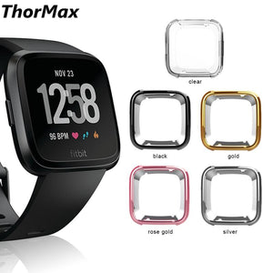 ThorMax TPU Scratch-resistant Flexible Soft Case Slim Lightweight Protective Bumper Cover For Fitbit Versa