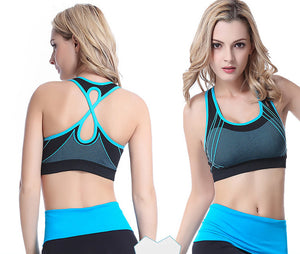 Quick Dry Sports Bra Cross Back Hollow Push Up Padded Crop Tops Shockproof - Goamiroo Store