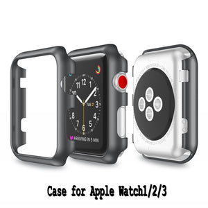 For Apple Watch Frame Colorful Pc Case Cover Lightweight Protective Shell Series 1/2 Series 3 Iwatch 38 /42Mm Watch Accessories - Goamiroo