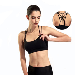 Back Strappy Fitness Sport Bra Women Shockproof Breathable Running Yoga Bras Tank Tops - Goamiroo Store