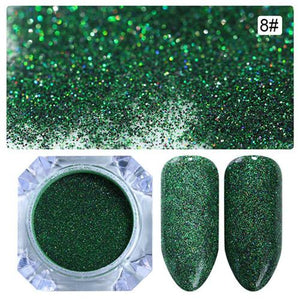 Starry Nail Power 1.5G Holographic Laser Glitters Dust Manicures 9 Colors - Goamiroo Store