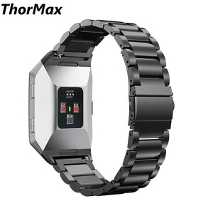 Thormax Fashion Watchband Link Buckle For Fitbit Ionic 316L Stainless Steel Watchband Bracelet Classic Band - Goamiroo Store