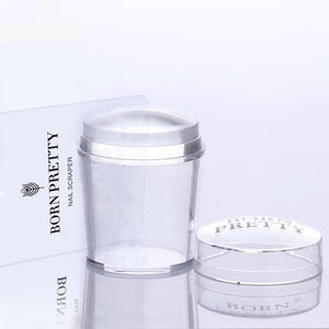 4cm XL Clear Marshmallow Silicone Jelly Stamper with Cap 1PC Nail Art Stamper &amp-GoAmiroo Store
