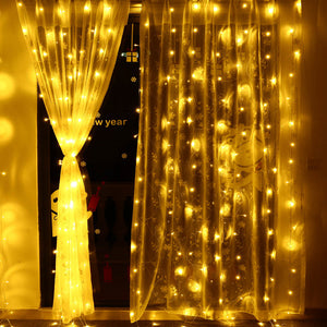3m X 3m 8 Modes 306 Led Christmas Curtain String Fairy lights Curtain Icicle Lights-GoAmiroo Store