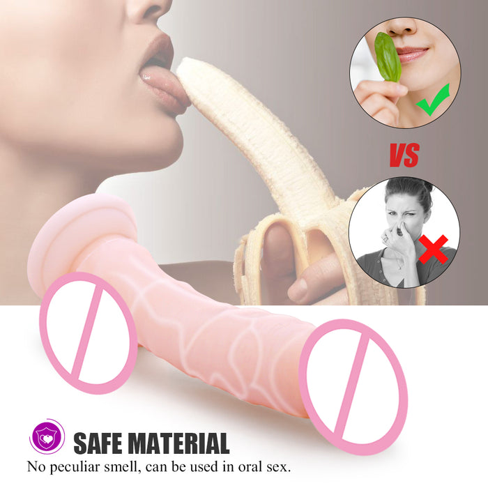 Realistic Soft Silicone Dildo Suction Cup Male Artificial Penis Large Flexible Dick Masturbator Sex Toys For Woman