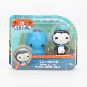 2pcs/set Octonauts Figures Accessories Octopus Vehicle Captain Barnacles Kwazii Peso Tweak Dashi Professor Mini Model Doll-GoAmiroo Store