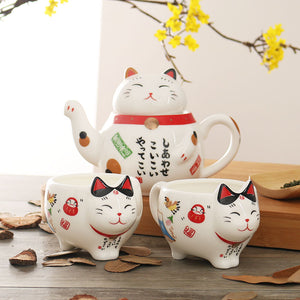 Cat Cups Cartoon Plutus Teapots Coffee Milk Mug Sets Creative Breakfast Tea Pot - Goamiroo Store