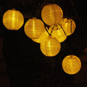 4.8M 20 LED Solar String Lights Lantern Ball Outdoor Lighting-GoAmiroo Store