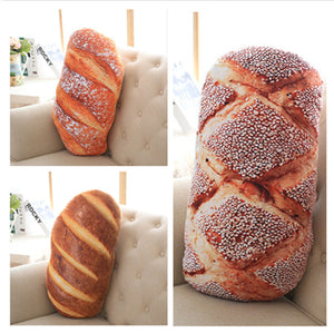 Creative Bread Pattern Pillow Funny Soft Massage Neck Pillow Pp Cotton Filler Cervical - Goamiroo Store