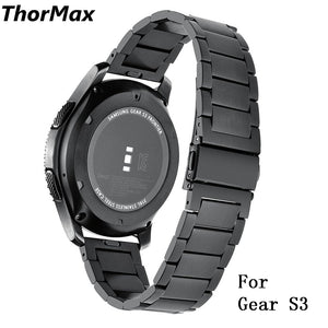 Thormax For Samsung Gear S3 Frontier/classic Easy To Install 316L Stainless Steel Watchband Hand Removable Links Strap - Goamiroo Store