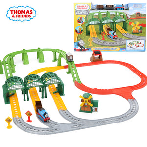 Thomas & Friends Collectible Railway Busy Day On Sodor Deluxe Set Diecast Metal Engines Playset Wooden Train Track Accessories -