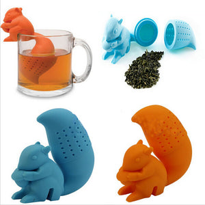 Cute Kawaii Squirrel Shape Silicone Tea Infuser Coffee Loose Leaf Strainer Bag - Goamiroo Store