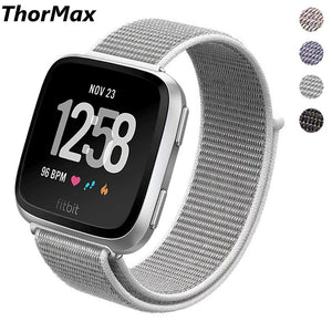 Thormax For Fitbit Versa Bands Sport Wristbands Woven Nylon Loop Bands Replacement Fitness Strap With Unique Magnet Lock - Goamiroo Store