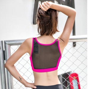 Breathable Mesh Sports Bra For Women Fitness Running Yoga Crop Tops - Goamiroo Store