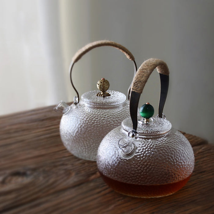 700ml Cute Clear Heat Resistant Glass Teapot With Tea Infuser Kung Fu Tea Ketlle