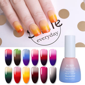 3 Colors Thermal Nail Gel Polish 10ml Temperature Color Changing Soak Off UV Gel Lacquer Manicure Nail Art Varnish-GoAmiroo Store