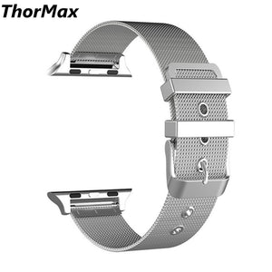 Thormax Stainless Steel Milanese Loop With Adjustable Magnetic Closure Metal Band For Apple Watch Series 1/2/3 Mldk0227 - Goamiroo Store