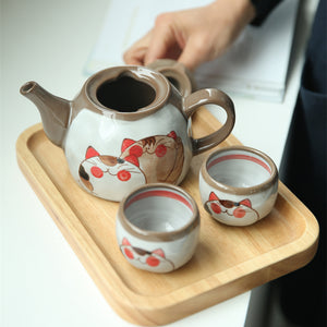 Japanese Teapots Cute Cartoon Cat Tea Pot Set Home Morning Tea Set - Goamiroo Store