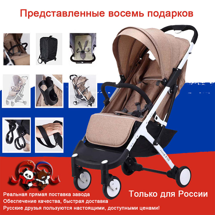 New Lightweight Stroller Yoyaplus Style Baby Stroller Can Sit Lie Folding Carriage Ultra-Light Portable On Plane