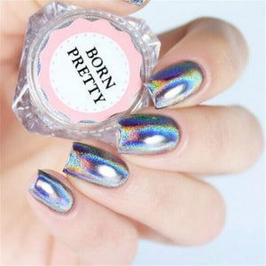 0.5g Holographic Laser Nail Glitters Holo Rainbow Nail Art Powder Nail Tip Chrome Dust Manicures-GoAmiroo Store