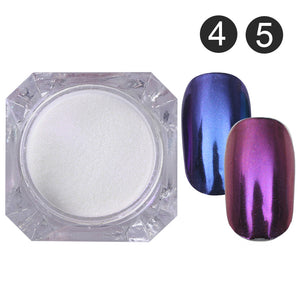Mirror Nail Glitter Pigment Powder 1G Gold Blue Purple Dust Manicure Nail Art Glitter Chrome Powder - Goamiroo Store