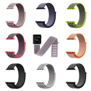 Thormax Sport Nylon For Apple Watch Band 42 Mm 38 Mm Wove Nylon Watch Strap For Iwatch Series 3/2/1 Wrist Bracelet Watch Band - Goamiroo