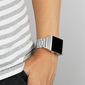 Fashion Watchband Link Buckle 316L Stainless Steel Watchband Bracelet Band For Fitbit Ionic - Goamiroo Store