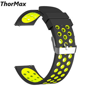Thormax Gear S3 Frontier / Classic Watch Band 22Mm Soft Silicone Man/women Watch Replacement Bracelet Sport Strap For Samsung - Goamiroo