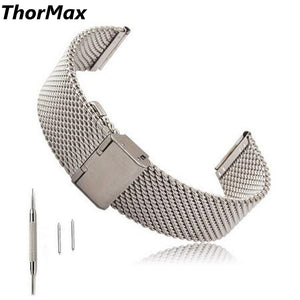 Thormax 22Mm Milanese Stainless Steel For Samsung Gear S3 Frontier / Classic Watch Band Metal Buckle Replacement T Strap - Goamiroo Store