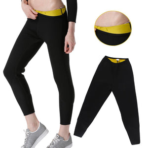 Women Plus Size Hot Sweat Neoprene Running Pants Sport Leggings Weiloss - Goamiroo Store