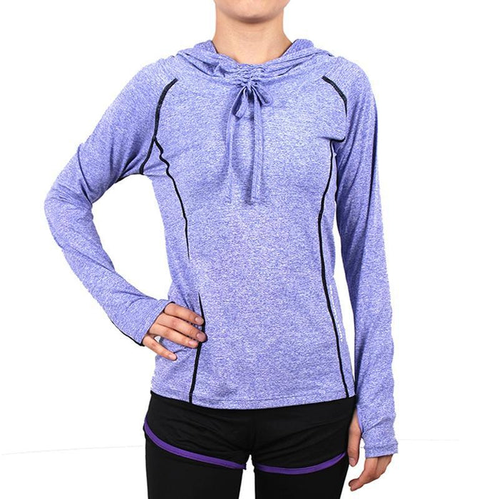 Women Quick Dry Hoodies Running Jackets Long Sleeve Elastic