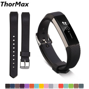 Thormax Soft Silicone Secure Adjustable Band For Fitbit Alta Hr Band Wristband Strap Bracelet Watch Replacement Accessories - Goamiroo Store