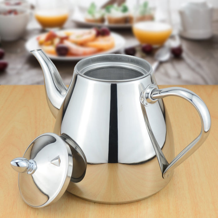 Stainless steel tea pot with tea strainer teapot with tea infuser teaware sets tea kettle