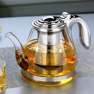Large Capacity Tea Pot Elegant Cup Glass Tea Set Glass Teapot - Goamiroo Store