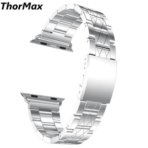 Thormax 316L Stainless Steel X-Lines Watchband Link Buckle Replacement Bracelet Band For Apple Watch Series1/2/3 38/42Mm - Goamiroo Store