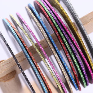 13 Pcs Matte Glitter Nail Tape Line Multi-color 1mm Striping Adhesive Stickers Manicure DIY Tips-GoAmiroo Store