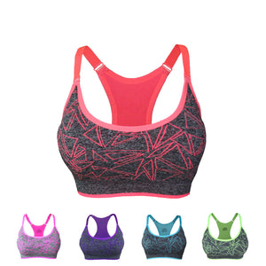 Women Quick Dry Running Vest Adjustable Straps Absorb Sweat Padded Sports Bra - Goamiroo Store