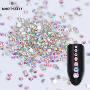 1 Bag Flat Back Rhinestone 3D Nail Decoration Colorful Multi-size Accessoires Manicure-GoAmiroo Store