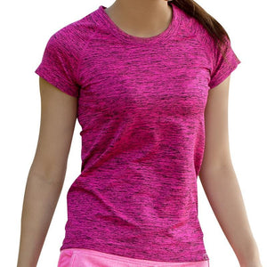T Shirt For Women Dry Quick Gym Yoga Shirt Ladies Fitness Short Sleeve - Goamiroo Store