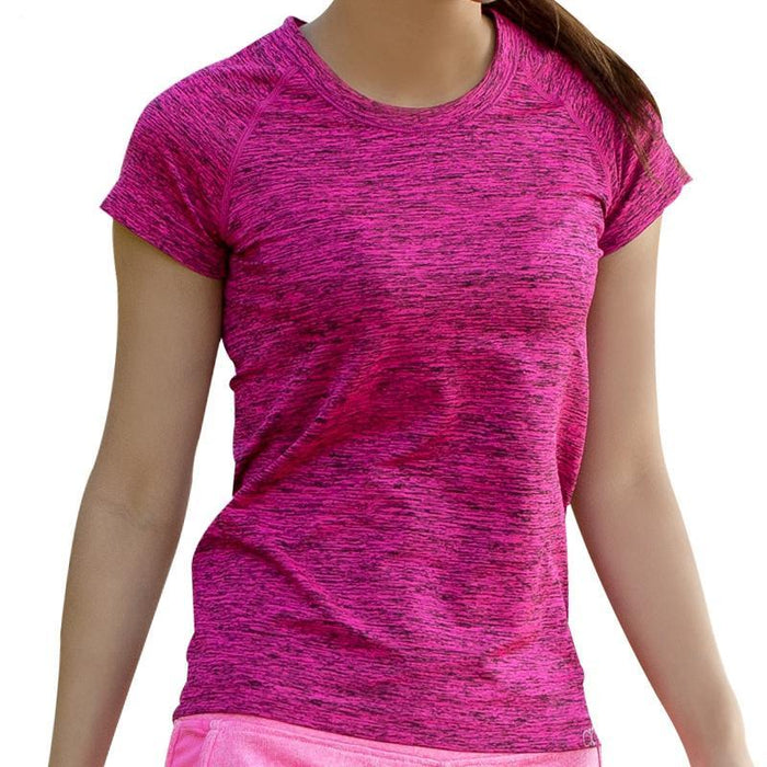 T Shirt for Women Dry Quick Gym Yoga Shirt Ladies Fitness Short Sleeve