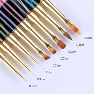 1Pc Gradient Nail Liner Painting Brush Pen Multi Size UV Gel Cat Eye Rhinestone Handle Manicure-GoAmiroo Store