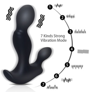 Latest Japanese Prostate Massager Anal Vibrator Sex Toys Usb Rechargeable 7 Speeds Mode Waterproof Anal Plug Toy For Men - Goamiroo Store
