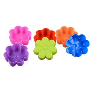6pcs Silicone Mold Heart Cupcake Soap Silicone Cake Mold Muffin Baking Nonstick and Heat Resistant Reusable Silicone Cake Molds