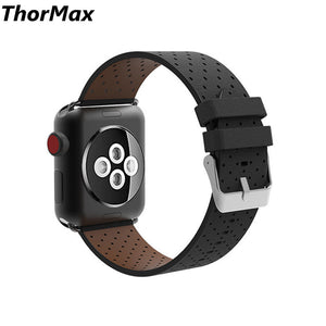 Thormax For Apple Watch Genuine Leather Strap Single Tour Wild Rallye Bracelet Men/women Watchband Series 1/2 Series3 38/42Mm - Goamiroo