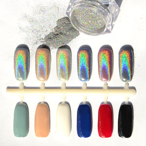 Rainbow Nail Art Powder Tip Chrome Dust Manicures Previous Next